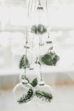 A Scandinavian Christmas - Tidbits Minimalist Christmas or. - A Scandinavian Christmas – Tidbits Minimalist Christmas ornaments with euca - Scandinavian Christmas Decorations, Decoration Christmas, Diy Christmas Ornaments, Homemade Christmas, Holiday Decor, Xmas Decorations, Christmas Branches, Natural Christmas Decorations, Christmas Plants