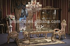 Source Deluxe Palace Dinning Furniture, Exquisite Wood Carving Dinning Set, Vintage Dinner Table For Six on m.alibaba.com