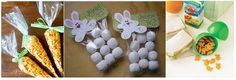BUNNY TAILS MARSHMELLOWS AND BUNNY CRACKERS IN CARROT SHAPE BAG WITH GREEN BOW