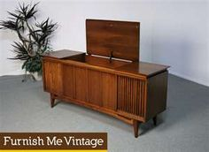 Superieur 1960s Stereo Console Cabinet