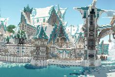 Elven City Lothariel Minecraft Panorama