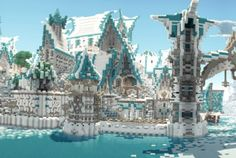 Elven City Lothariel Minecraft Panorama