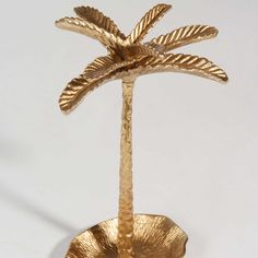 Portagioie in metallo dorato PALM ...
