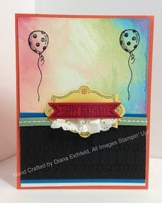 Stampin' Fun with Diana: Stylin' Stampin' Squad July Hop: Birthday Bash, Sketched Birthday, Big Shot, Birthday, Stampin' Up', Clear Block Color Wash Technique, Diana Eichfeld