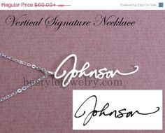 Personal Presents  Name Necklace  Signature by SilverElegant, $45.00
