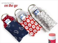 ScrapBusters: Lip Balm Key Ring Mini Case | Sew4Home- printed out pattern already k