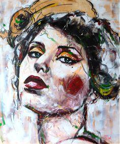 Portrait T112 Acrylique & fusain sur toile 120X100cm http://www.lucile.callegari.fr
