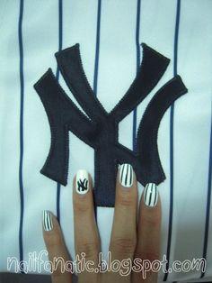 yankee pinstripe nails