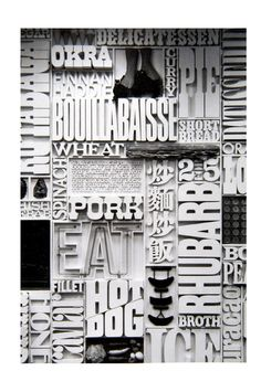 Herb Lubalin - This piece reminds me of a newspaper layout mostly because of the black and white and the bold letters but It's an interest technique to create an abstract poster filling the page with words that relate to the same theme.