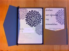DIY Invitations :  wedding purple invitations wedding-ideas
