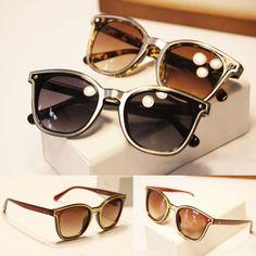 Women Brand Designer Luxury Cat Eye Rivet Sunglasses Vintage Arrow Shades Sun Glasses