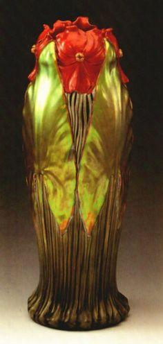 Zsolnay virágos szecessziós váza