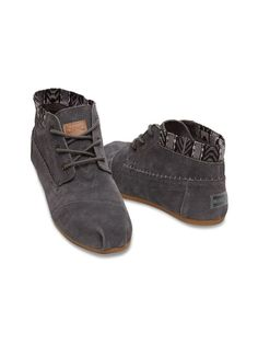 Dark Grey Trim Suede Womens Tribal Boots TOMS need some decent dress walking shoes size 8 Cheap Toms Shoes, Toms Shoes Outlet, Cute Shoes, Me Too Shoes, Tom Shoes, Shoe Boots, Shoe Bag, Toms Boots, Ankle Boots