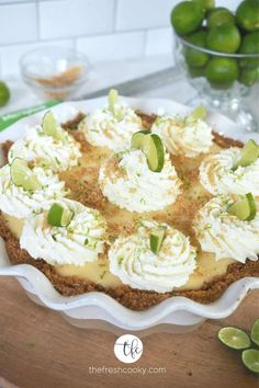 Describe your BESTKey Lime Pie...is it citrusy, sweet-tart, creamy -- with the perfect sweet to-pucker ratio; light and bright with a crisp not-to-sweet graham cracker crust? You found it! #thefreshcooky #keylimepie #keylime #pie #grahamcrackercrust #glutenfree #eggfree #creamy #easterrecipe #dessertrecipe #easydessertrecipe #easyrecipe #stpatricksdaydessert Lime Recipes, Tart Recipes, Baking Recipes, Summer Recipes, Sweet Pie, Sweet Tarts, Award Winning Key Lime Pie Recipe, Yummy Snacks, Delicious Desserts