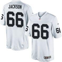 Gabe Jackson Youth Limited White Jersey: Nike NFL Oakland Raiders Road #66