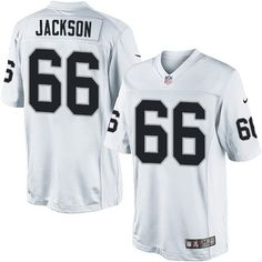 Gabe Jackson Youth Limited White Jersey: Nike NFL Oakland Raiders Road #66