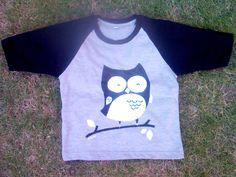kaos lukis #owl #cottoncombed #nubihandpainting