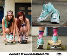 The summer collection of British Knights consists of a range of stylish and trendy sneakers with colorful patterns. One of the biggest trends this summer is pastel and during the pastel-parade this Roco runs ahead in the hottest color of the moment: mint green. Roco is a sporty everyday sneaker and has a unique collar that changes your look completely by folding it up or down. This enables Roco well behaved under different styles! Available on www.bkfootwear.com for € 54.95