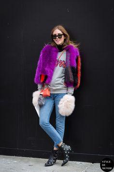 New York Fashion Week FW 2015 Street Style: Chiara Ferragni