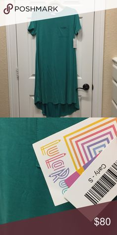 LuLaRoe Solid Carly dress NWT solid teal Modal mix small LuLaRoe Carly!  Stunning!!!! 😊Bundle and save! 🎉 LuLaRoe Dresses High Low