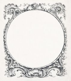 Vintage Ornate Circle Frame ~ LÁMINAS ANTIGUAS 3-Ideas y Trabajos terminados (pág. 802)   Aprender manualidades es facilisimo.com
