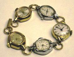 Vintage watch bracelet
