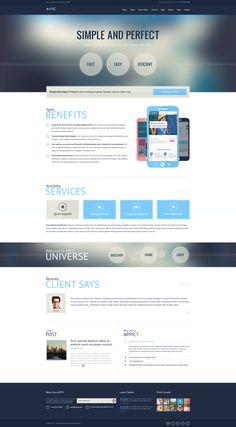 Simple clean web design