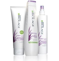 Moisturizing Dry Hair Care Products - Matrix Biolage HydraSource (ULTRA)  My regular use (daily) trio!  Keeps my hair soft and healthy.