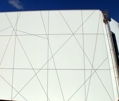 ASB Theatre 10. Trespa panels, routed on site to add lines