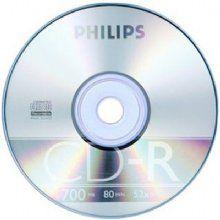 Cd-r 700mb 52x 80min Philips - midia virgem 1a linha - Valor unitário de R$ 0,74 para pacote com 100 unidades