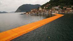 Apre nel weekend The Floating Piers, la passerella galleggiante sulle acque del lago d'Iseo realizzata dall'artista bulgaro Christo
