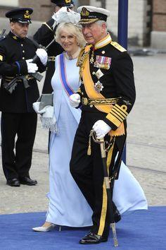 #Realeza El príncipe Carlos de Gales y la duquesa Camilla de Cornualles en la Ceremonia de Investidura de los resyes Guillermo Alejandro y Máxima de Holanda el 30 de Abril de 2013.