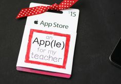 Keep tradition alive with this apple-themed gift for your teacher!