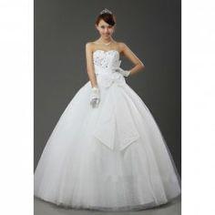 $110.95 Elegant Style Bowknot Design Ball Gown Wedding Dress For Bride