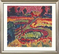 Landschaft im Herbst Collectable Print by Karl Schmidt-Rottluff at Art.com