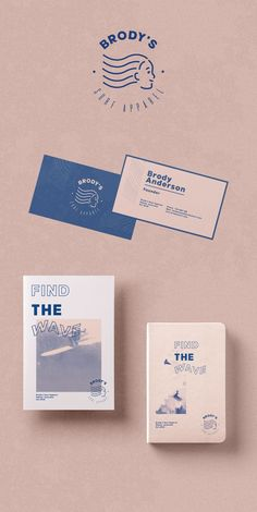 Brody's Surf Brand Apparel Stationery Design Inspiration and Branding Design Concept by Zeka Design. Web Design, Design Logo, Graphic Design Branding, Corporate Identity Design, Brand Identity Design, Identity Branding, Design Brochure, Stationery Design, Packaging Design Inspiration
