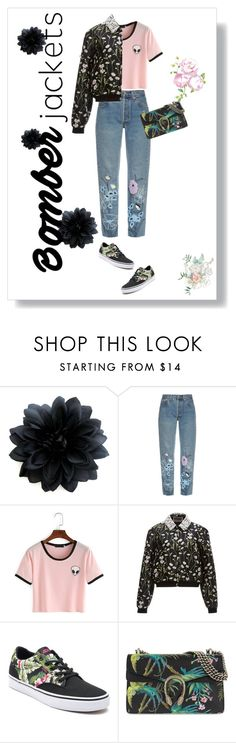 """""""bomber jacket"""" by nazesmail ❤ liked on Polyvore featuring Bliss and Mischief, Giambattista Valli, Vans, Gucci and bomberjackets"""
