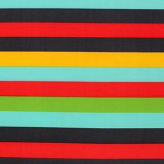 "Retro Rainbow Stripe Jersey ITY Knit Fabric - Love these colors!  A retro rainbow palette in red, black, gold, aqua, and green stripes ITY knit.  Light to mid weight jersey ITY.  ITY (Interlock Twisted Yarn) knit has a smooth hand and fluid drape.   Stripes measure 1 1/2"". Great for swimwear, coverups, skirts, wrap dresses, tops, diapers, dance wear and more!  ::  $6.50"