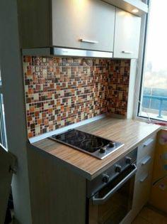 Brown Creative D Mosaic Wall Stickers Backsplash Tile Wallpaper - Custom vinyl wall decals for kitchen backsplash