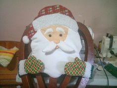 Forro Papá Noel para silla del comedor