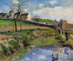 Camille Pissarro Famous Works | ... in Osny by artist Pissarro as gift or decoration by customer order