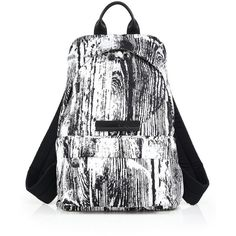 McQ Alexander McQueen Men's Monochrome Nylon Backpack ($480) ❤ liked on Polyvore featuring men's fashion, men's bags, men's backpacks, apparel & accessories, black multi and mcq by alexander mcqueen