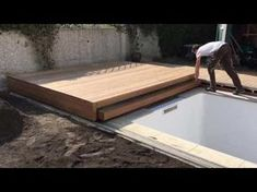 Amazing secret Hidden pool - the making of Backyard Pool Designs, Small Backyard Pools, Swimming Pools Backyard, Swimming Pool Designs, Hidden Pool, Piscina Interior, Pool Fountain, Outdoor Spa, Outdoor Sheds