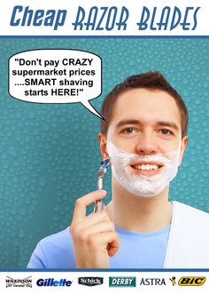 Cheap-Razor-Blades.com for high quality branded shaving blades at rock bottom prices Shaving Blades, Rock Bottom, Projects To Try, Container, Ads, Graphics, Cook, Random, Places