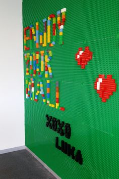 Lego Wall By Studio Luka What a great job we have! Enjoy your wall