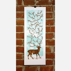 Antlers Print by Nate Duval