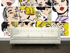 Eazywallz  - Retro illustrations Wall Mural, $117.45 (http://www.eazywallz.com/retro-illustrations-wall-mural/)