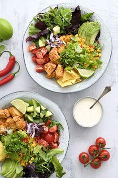 Crab Stuffed Avocado, Healthy Salads, Healthy Recipes, Cottage Cheese Salad, Salad Dishes, Cold Pasta, Seafood Salad, Chicken Salad Recipes, Vegan