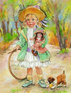 christine haworth art - Page 7 Illustration Artists, Cute Illustration, Vintage Cards, Vintage Images, Decoupage, Freelance Illustrator, Art Pages, Vintage Children, Illustrators