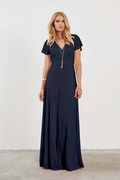 Dove & Dahlia Clara Bridesmaid Dress in Navy blue
